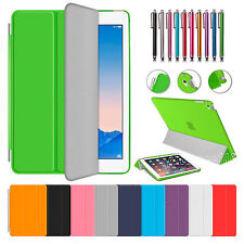 Magnetic PU Leather Smart Sleep/Wake Cover For iPad  Air /2 with Hard Back Case