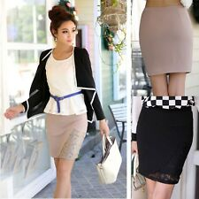 Sexy High Waist Stretchy Tight Bodycon Mini Skirt Office Pencil Skirt Slim юбка