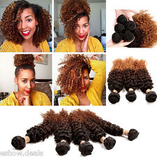 Hot Curly Wave 50g Ombre Bundles Extensions 1B/4/28# Color Brazilian Human Hair