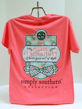 Simply Southern Tee Shirt Short Sleeve Pink Preppy Classy and Happy