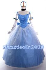 Cinderella Princess Adult Dress Ball Gown Fancy Dress Cinderella Cosply Costume