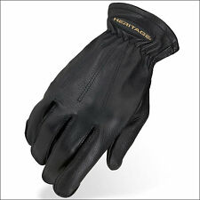 HERITAGE DEERSKIN TRAIL RIDING GLOVES HORSE EQUESTRIAN
