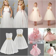 Flower Girl Princess Dress Kids Party Pageant Wedding Bridesmaid Gown Dresses