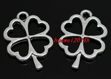 10/40/240pcs Tibetan Silver Jewelry Finding leaves charms pendant 25x17mm