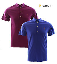 Farah Gregory Cotton Short Sleeve Polo Shirt Clematis or Magenta Various Sizes
