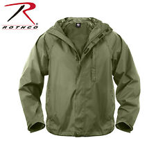 New Rothco 3854 Olive Drab Waterproof Packable Rain Jacket w/ Waist Pouch