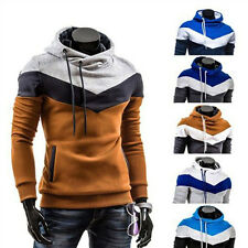 New Men Slim Pullover Hoodie Warm Fleeces Hooded Sweatshirt Coat Sweater Outwear