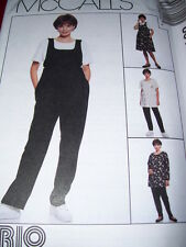 McCALL'S #8012 - LADIES JUMPSUIT or ROMPER-JUMPER-TOP & PANTS PATTERN  6-20 uc