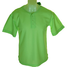 Bnwt Authentic Mens Tribute Crew Neck T Shirt 3 button Front Green New With Tags