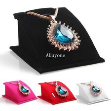 New Velvet Jewelry Necklace Pendant Drop Chain Display Holder Standing Stands