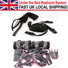 Adjustable Secret Under the Bed System Restraint Tool Set Bondage Nylon Cuffs