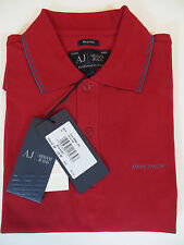 ARMANI JEANS PIQUE  POLO SHIRT SHORT SLEEVE COLOR RED NEW !!!! 100% AUTHENTIC