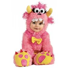 Baby Monster Costume Fuzzy Furry Pink Halloween Fancy Dress