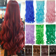 Sale New Clips In Hair Extensions Half Full Head Hairpiece Cosplay Fancy Dress F