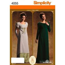 SIMPLICITY SEWING PATTERN Misses Period Gown - Costumes  SIZE 6 - 20 4055