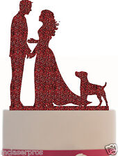 Wedding Cake Topper with your dog choice -Choice Dog Silhouette - Color Choice