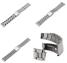 Quality Unisex 3 Styles Stainless Steel Watch Band Bracelet Metal Strap Clasp