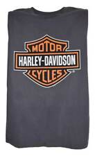 Harley-Davidson Men's Bar & Shield Muscle Shirt Tank Top, Charcoal Tee 30296624