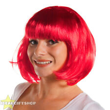 6 X BRIGHT PINK BOB WIG WITH FRINGE HEN PARTY PACK FANCY DRESS FASHION BABE HAIR