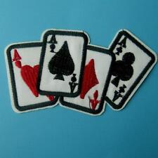 Poker Cards Iron on Sew Patch Ace Spades Hearts Diamonds Clubs Ace's Playing Lot
