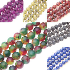 Lots 25/50Pcs Round Chic Glass Charms Loose Spacer Bead Jewelry Making DIY 8MM