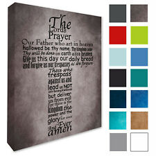 Lords Prayer Wall Picture Wall Art Plaque Sign Canvas Print *Pick A Colour/Size