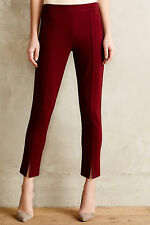 ANTHROPOLOGIE Cartonnier Tailored Ponte Trousers Pants Various Sz NWT Wine Color