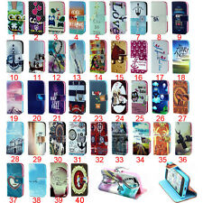 1pc Hot Sales Flip Magnetic PU Leather Card Stand Case Cover For Samsung Galaxy