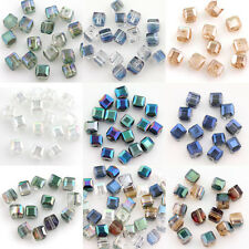 50Pcs 5x5x5mm Cube Square 5600 Austria Crystal Bead Loose Beads Jewelry Findings