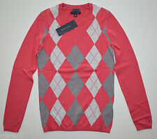NWT Women's Tommy Hilfiger V-Neck Pullover Sweater Pink, Gray XS, S, M