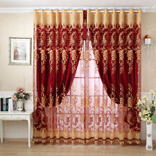 Customize curtain french window curtain pleated drapes tulle full light shading