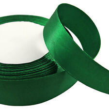 22 Metres Of 25mm SINGLE FACED Sided SATIN RIBBON Reel - Many Colours