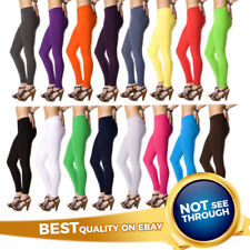 New UK Stock Full Length Cotton Leggings All Sizes and Colors - High Quality