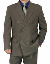 SHARP 2pc DOUBLE BREASTED DB MEN DRESS SUIT GRAY 36S-48L tb06