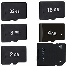 Hot Sale New  2GB 4GB 8GB 16GB MicroSD Micro SD TF Memory Card + Adapter + Case