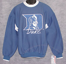 Vintage 90's DUKE BLUE DEVILS The GAME Sweatshirt SEWN Script NWT NEW Old Stock