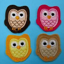 4 Owl Bird Night Animal Iron on Sew Patch Cute Applique Badge Embroidered Cute