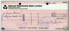 GEORGE HARRISON / THE BEATLES - Signed Cheque / Check - Musician 1972