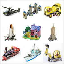 HOT DIY Toys 3D Puzzle model Intellectual development Educational for Kids Gift