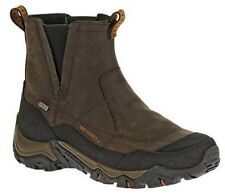Merrell Mens Polarand Rove Brown Pull On Waterproof Hiking Trail Snow Boots
