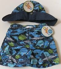 2pc Set~CUTE Baby/Infant Boys Girls Sun Hat + Swimsuit /Swim Short~UPF50+
