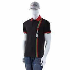 Sidi Race / Workshop / Leisurewear Casuals Stripe Black Polo Shirt