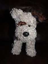 """2005 Ty TySilk Boggs the Grey and Brown Puppy Dog Plush Doll 11"""""""