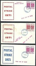 Great Britain covers 1971 Postal Strike FDCs Channel Islands nort sent