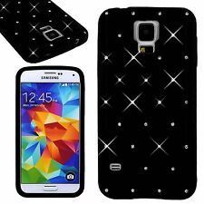 Luxury Black Soft Bling Diamond Gel Silicone Back Cover Case For Various Phone