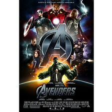 The Avengers Movie Poster Hulk Captain Thor Iron Man Print Picture Room Decor 5