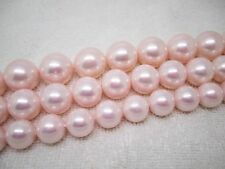 """10,12,14mm Pink Shell pearl Round Loose Beads 15"""""""