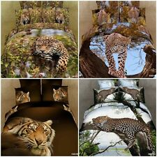 Animal Beast Queen Size Bed Quilt/Doona/Duvet Cover Set 100% Cotton Pillow Cases