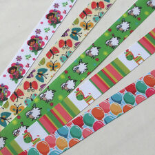 5/20Y Mix Grosgrain Ribbon sheep/Girl/ Butterfly/Craft/Wedding/sewing 22mm