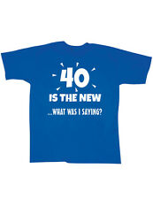 NEW NWT 40 Is The New - What Was I Saying T-Shirt Retired Over The Hill